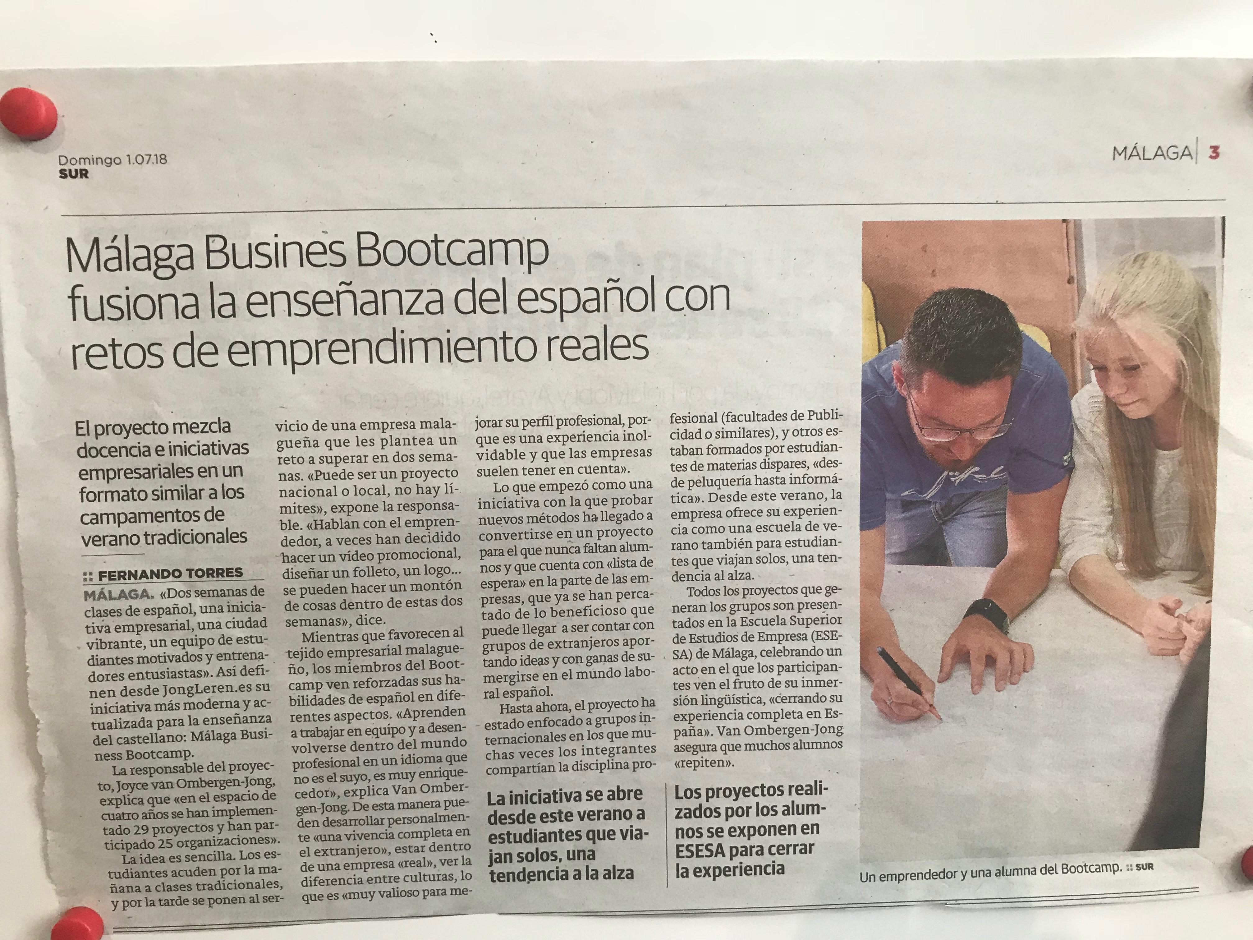 MBB again in newspaper SUR!